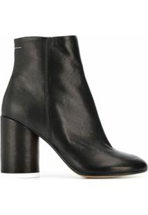 Mm6 Maison Margiela Ankle Boot Com Salto Bloco - Preto