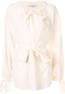 Stella Mccartney Tie-Detail Drawstring Blouse - Branco