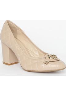 Sapato Tradicional Em Couro Matelass㪠- Marrom- Saltcapodarte