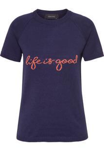 Blusa Feminina Life Is Good - Azul