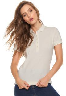 ... Camisa Polo Colcci Básica Off-White 4483f79da343f