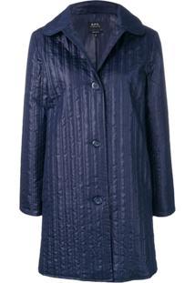 A.P.C. Long Single Breasted Jacket - Azul