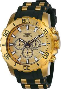 Relógio Invicta Pro Diver Masculino - Masculino-Dourado+Preto