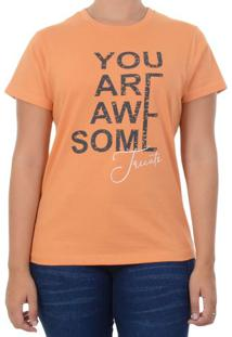 Baby Look Tricats You Are - Laranja / Gg