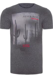Camiseta Masculina Never Rest - Cinza