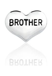 Pingente Folheado Cápsula Conquistas Coração Brother