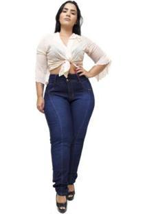 Calça Jeans Latitude Plus Size Claudinice Feminina - Feminino