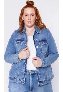 Jaqueta Almaria Plus Size Clamarroca Jeans Básica