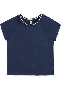 Blusa Feminina Hering Com Decote Em Retilínea