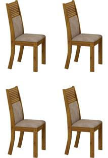 Conjunto Com 4 Cadeiras Havaí Canela E Cinza