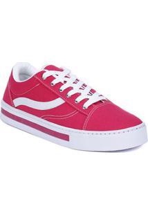 Tênis Casual Feminino Rosa Pink