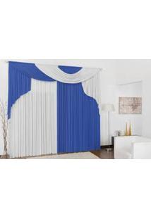 Cortina Elegance Quarto E Sala 4,00(Larg) X 2,80(Alt) Azul