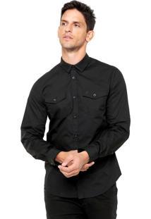 Camisa Forum Bolso Preto