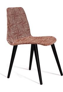 Cadeira Eames Tecido Pe Madeira Daf Bege/Marsala