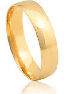 Aliança De Casamento Em Ouro 18K 4,9Mm Anatômica