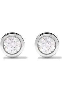 De Beers Par De Brincos 'Dewdrop' De Ouro Branco 18K Com Diamante - White Gold
