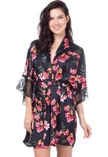 Robe Cetim Homewear Estampado | 589.0725