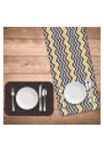 Jogo Americano Com Caminho De Mesa Wevans Abstrato Stripes Kit Com 4 Pçs + 1 Trilho