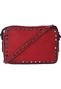 Bolsa Bag Dreams Lara Com Spikes Vermelha