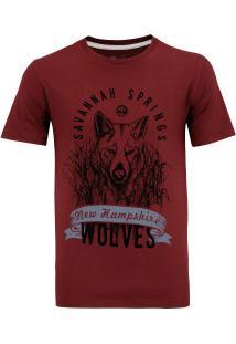 Camiseta Timberland Wolves - Masculina - Vinho