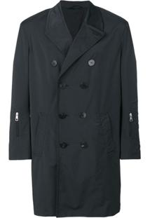 Neil Barrett Trench Coat Midi - Preto