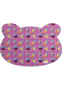 Tapete Pet Mdecore Urso Sorvete Pink 54X39Cm