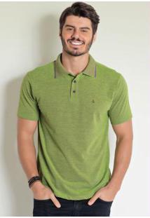Camisa Polo Verde Em Piquet