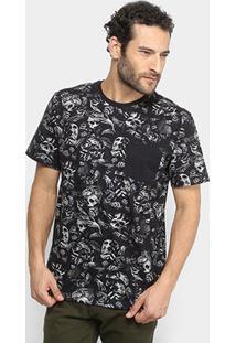 Camiseta Mcd Especial Full Nightmare Masculina - Masculino-Preto