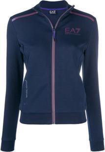 Ea7 Emporio Armani Logo Printed Jacket - Azul