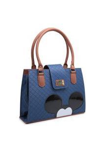 Bolsa Mickey Mouse Compacta Alça Dupla Mão Azul