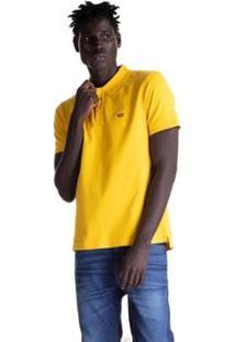 Camisa Polo Levis Logo Batwing Masculina - Masculino-Amarelo
