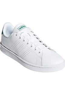 Tênis Adidas Advantage Ii Couro Masculino - Masculino-Branco+Verde