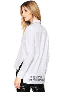 Camisa Calvin Klein Jeans Americans Branca