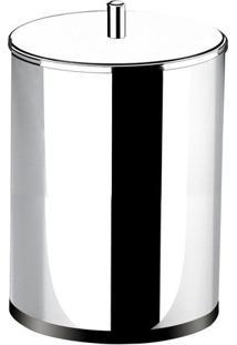 Lixeira Com Tampa- Inox- 31,3Xø20Cm- Brinoxcoza