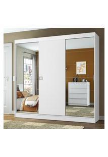 Guarda-Roupa Casal Madesa Veneza 3 Portas De Correr 2 Portas Com Espelho Branco