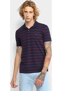 Camisa Polo Colcci Listrada Masculina - Masculino-Marinho+Vinho