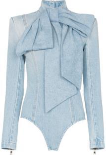 Balmain Body Jeans Com Laço - Azul