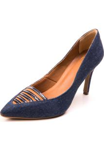 Scarpin Mentha Pimentha Jeans Azul Marinho