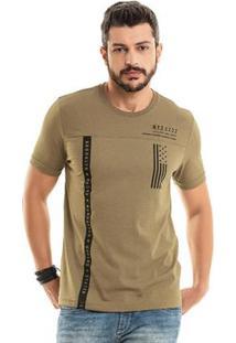 Camiseta Estampada Marrom Bgo
