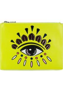 Kenzo Clutch Eye Bordada - Amarelo