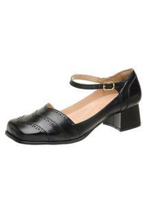 Sapato Bico Quadrado Ref: 3167 Preto