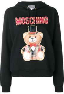 Moschino Blusa De Moletom 'Teddy' - Preto