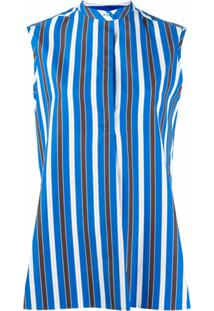 Aspesi Blusa Com Estampa De Listras - Azul