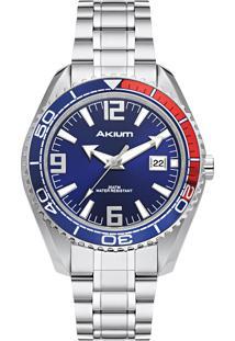 Relógio Akium Masculino Aço - G7082 Ss Vd53 Blue
