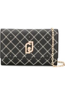 Liu Jo Chain-Print Clutch Bag - Preto