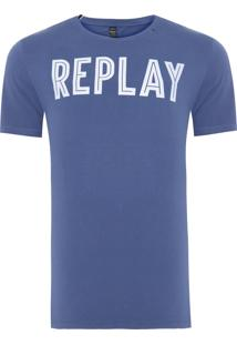 Camiseta Masculina Line - Azul