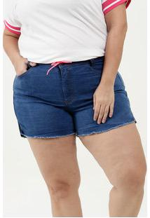 Short Feminino Jeans Stretch Plus Size
