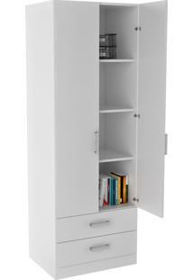 Armário Para Escritório Com Portas E Gavetas Office Plus Appunto - Branco