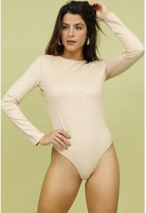 Body Liso Com Botãµes- Bege- Mos Beach Wearmos Beach Wear