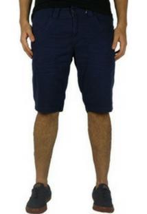 Bermuda Jeans Zune Skinny Azul Escuro